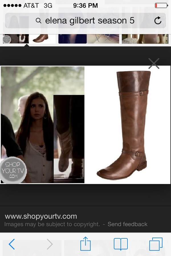 shoes brown leather boots boots nina dobrev the vampire diaries the vampire diaries