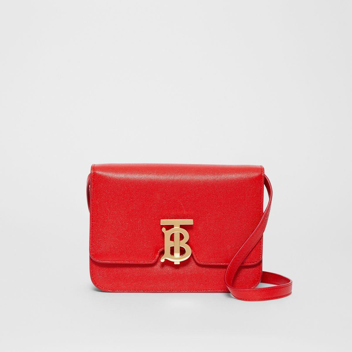 Small Grainy Leather TB Bag