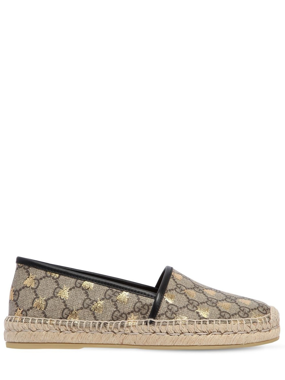 GUCCI 20mm Pilar Gg Supreme Canvas Espadrilles in beige / beige