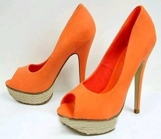 shoes orange shoes