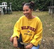 shirt,yellow,red,fashion,sweatshirt,clothes,tommy hilfiger