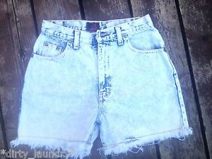 Vintage 80 Sasson Acid Wash Denim Cut Off Jean Shorts High Waist 26 XS S | eBay