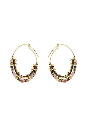 beaded earrings hoop earrings jewels