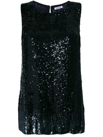 blouse sleeveless women black top