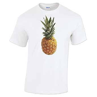 Pineapple t shirt fruity summer ripe exotic mens fashion gift present at amazon men's clothing store: