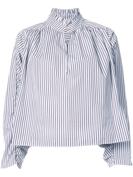 Petersyn shirt high women high neck white cotton top