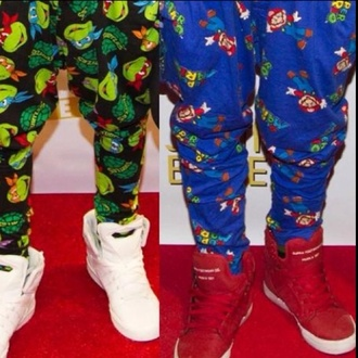 pants justin bieber mario drop crotch pants turtle ninja turtles pj pants shoes
