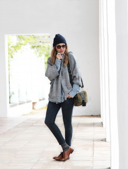 my daily style shoes bag sunglasses sweater jeans