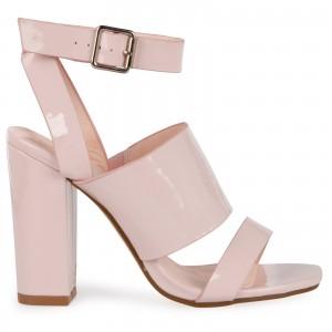 Sophie Block Heels In Light Pink Patent