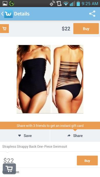 swimwear one piece swimsuit shredded strapless jumpsuit