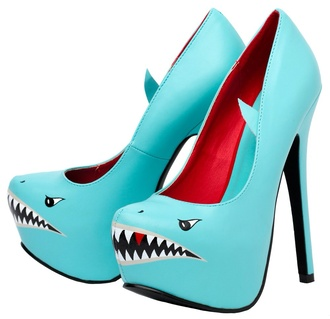 shoes heels shark clogs shark attack heels