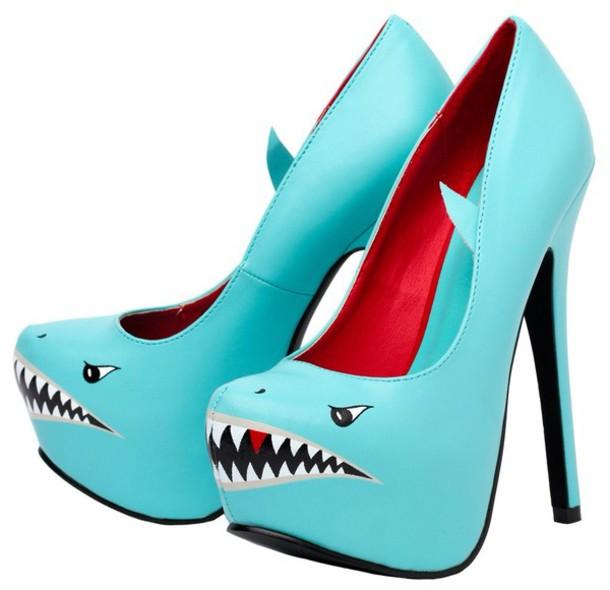 shoes heels shark clogs shark attack heels 5862aa169
