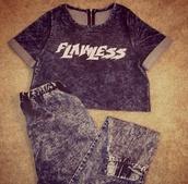 shirt,instagram,flawless shirt,denim shirt,pants,top,denim joggers,denim,***flawless,crop tops,cute,jumpsuit