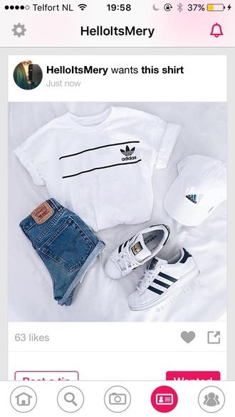 shirt adidas grunge tumblr hipster nike sneakers shorts