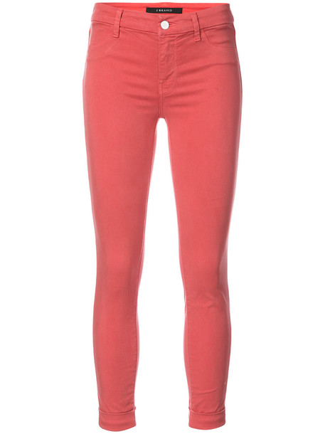 J BRAND jeans cropped jeans cropped women spandex cotton red