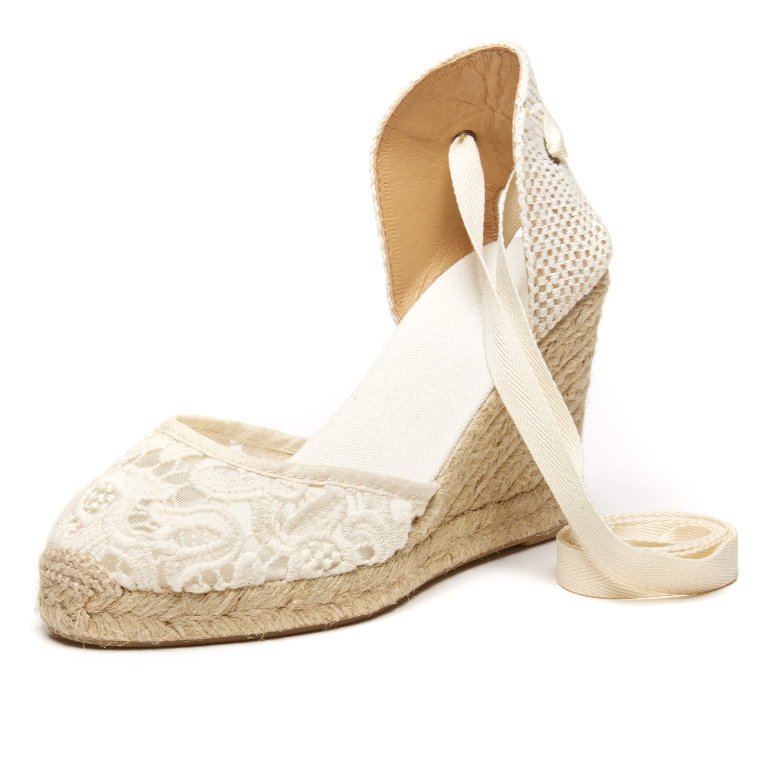 de6a436fd66 Soludos Ivory Tulip Lace Tall Wedge for Women - Soludos Espadrilles