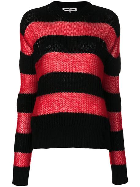 McQ Alexander McQueen jumper women mohair black wool sweater