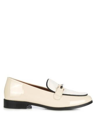hair loafers leather cream shoes