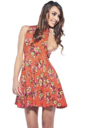 Amazon.com: AX Paris Women's Floral Summer Skater Dress: Clothing