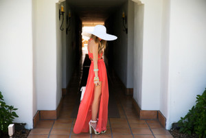 dress red dress summer clothes long dress long red dress heels white high heels high heels hat short dress bracelets floppy hat sequin dress