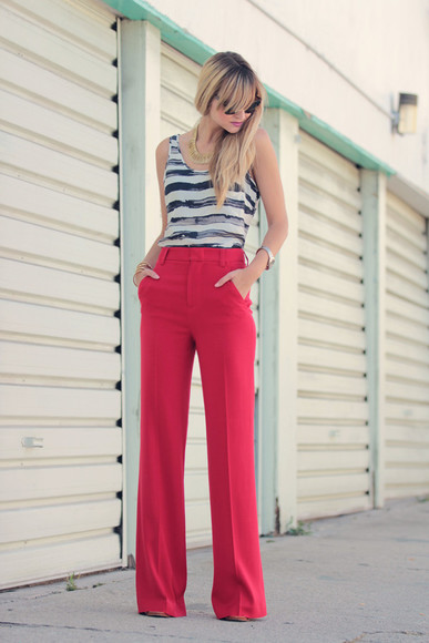 pop culture afternoon red pants