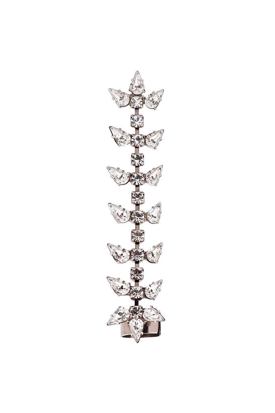 dannijo silver crystal gwendolyn ear cuff