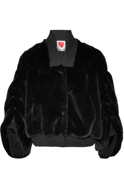 House of Fluff jacket bomber jacket cotton black