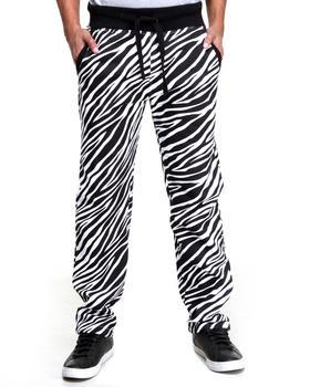 Buyers Picks - Men White Zebra Fleece Sweat Pants