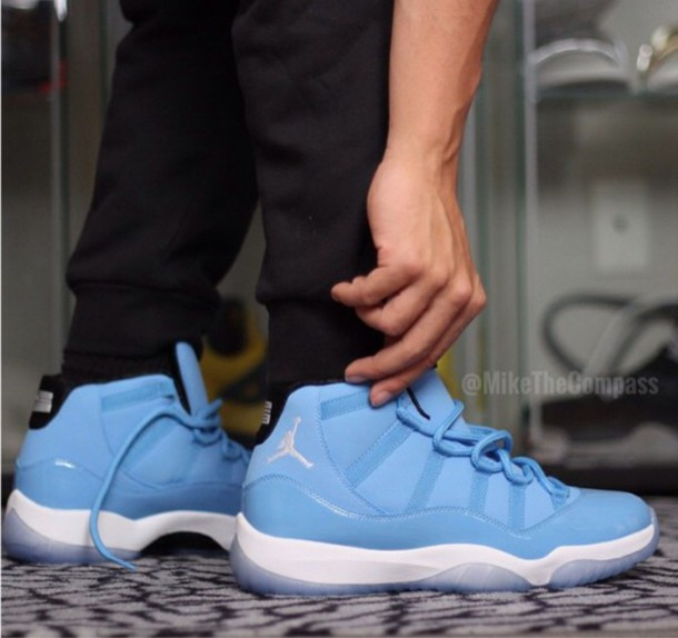 shoes, baby blue, style, sneakers, jordans, jordans, dope ...