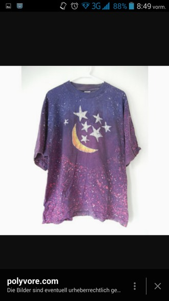 shirt purple grunge grunge t-shirt grunge wishlist moon stars overzised