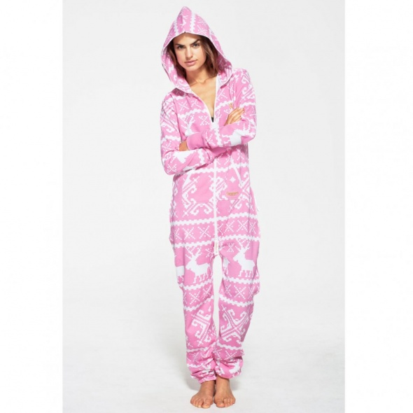 OnePiece OnePiece Lillehammer Jumpsuit in Pink & White - OnePiece from Hurleys UK