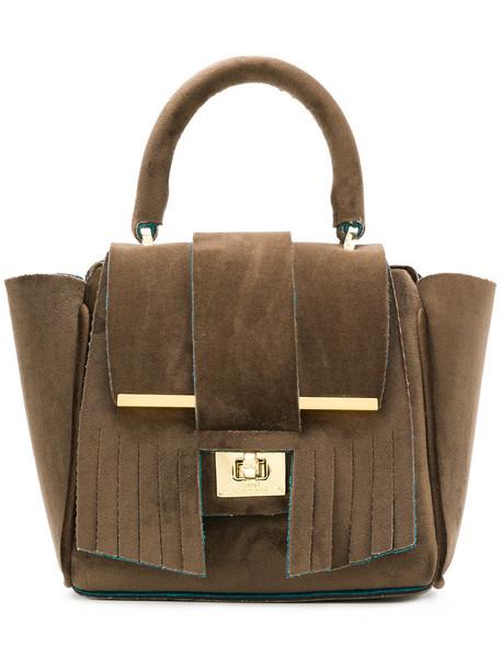 Alila mini women bag tote bag velvet brown neoprene