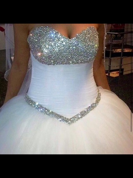 dress bling wedding dress