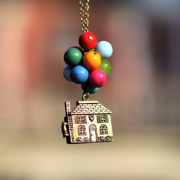 jewels movie necklace disney up pixar balloons house