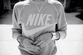 sweater grey nike nike style pants jewels