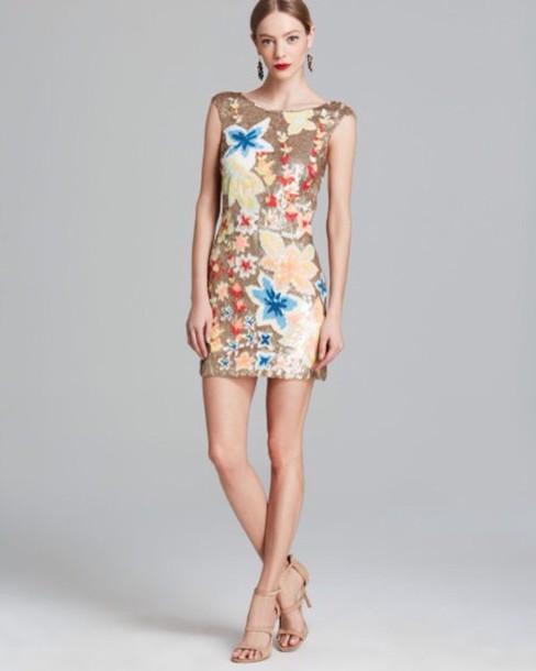 dress glitter dress floral dress