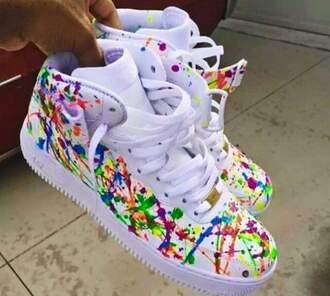 shoes multicolor nike