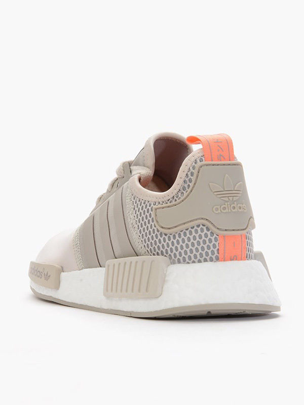 newest 6b07f 32bfa Iconic Adidas NMD R1 Primeknit Sneakers Shoes Grey Nude Peach Boost 7 7.5