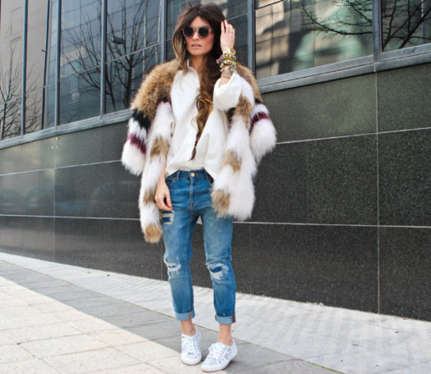 madame rosa coat shirt jeans sunglasses shoes hat jewels