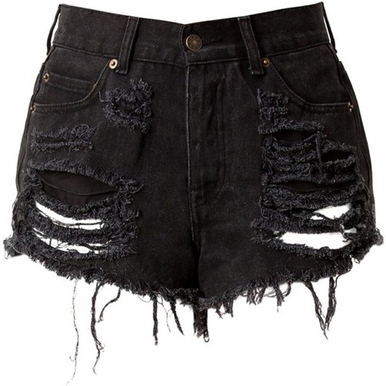 Original Black Shorts - Arad Denim