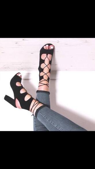 shoes heels gladiators sexy shose black heels