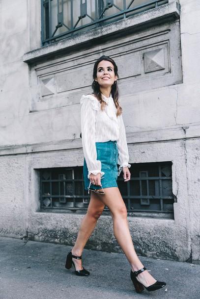 101396aa917395 skirt, lace up skirt, mini skirt, suede skirt, blue skirt, teal ...