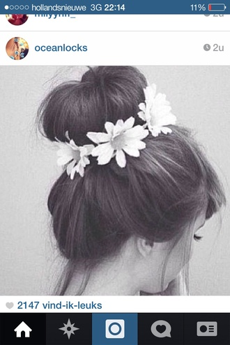 jewels daisy white accessories hairstyles flower crown floral summer outfits