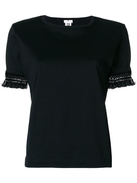 COMME DES GARÇONS NOIR KEI NINOMIYA t-shirt shirt t-shirt embroidered women cotton black top