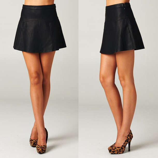 Skirt: matte skirt, matte black, faux leather skirt, leather skirt ...
