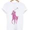 Ralph lauren logo pink t shirt