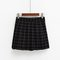 Grid school short pleated skirt