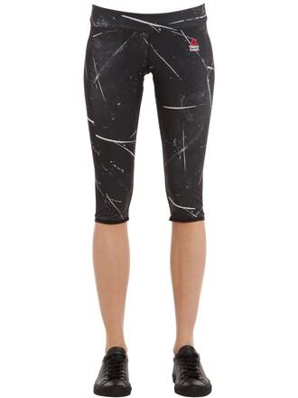 leggings cropped white black pants