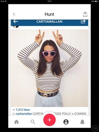 top striped top cartiamallan long sleeves