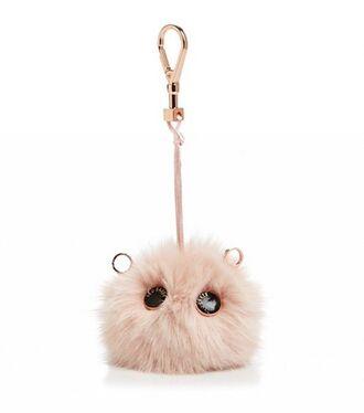 bag bag charm charm cute keychain fur keychain fuzzy ball keychain bag accessoires